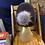 Thumbnail: eggplant & charcoal loc tam w/ satin & pom