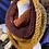 Thumbnail: burgundy/ mustard & spice Tiffany cowl