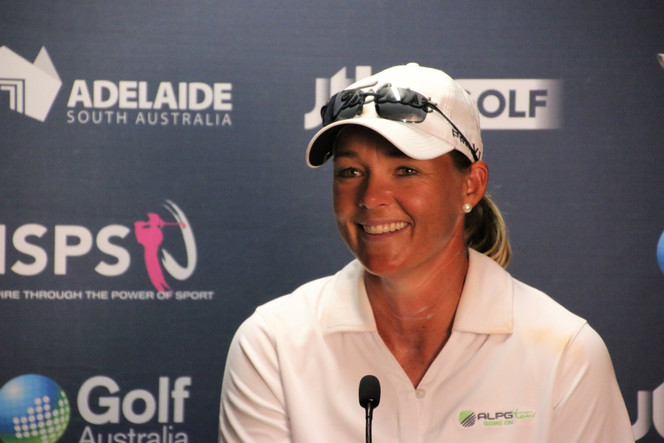 Aussie Katherine Kirk holds lead on day one