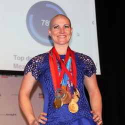 Anna Meares with all of her Medals