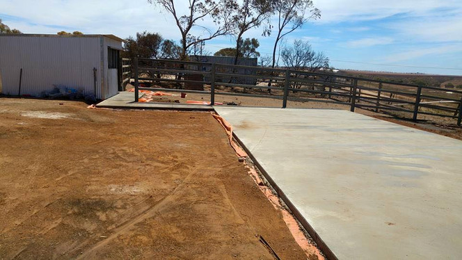 Concrete Slab the Start of Rebuild after Fire Disaster