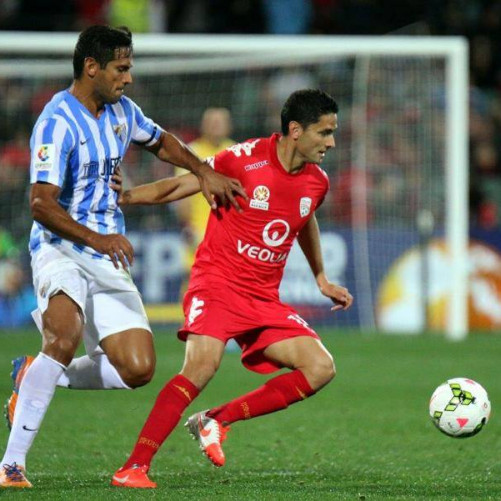 Malaga CF too strong for Adelaide United