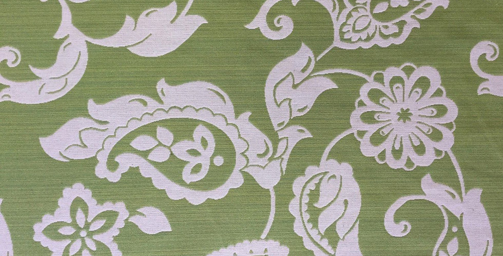 Lime Green/White Paisley