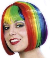 rainbow pride wig
