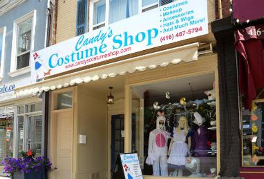 candys costume shop halloween store front