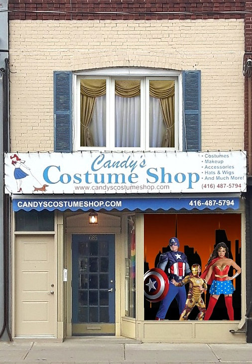 Candys costume shop store front