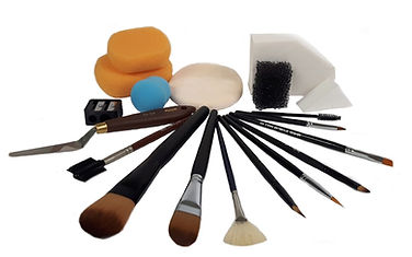 Makeup brushes and supplies