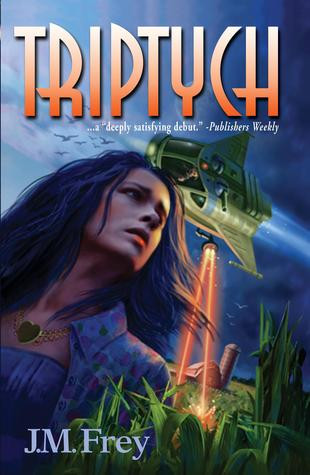 Triptych is J.M. Frey's debut novel, set in the near future. Image via Goodreads