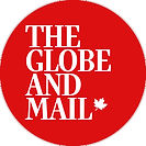 The logo for the Globe and Mail: the publication's name in serif font against a red background, with a small maple leaf graphic.