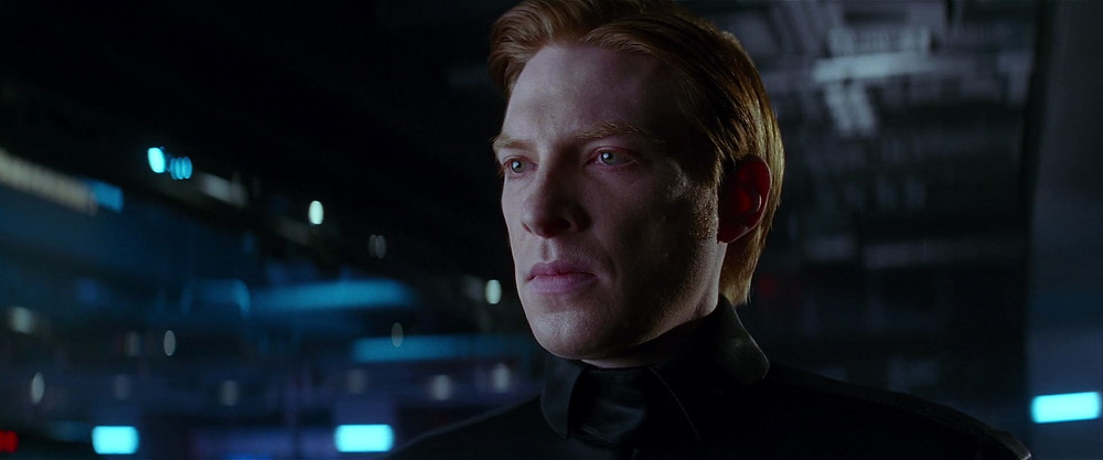 Armitage Hux is a general of the sinister First Order in the Star Wars sequel trilogy. Image via Star Wars Screencaps.