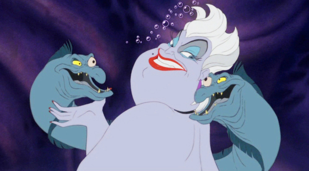 Ursula from The Little Mermaid is based on a drag performer called Divine. Image via Bustle.