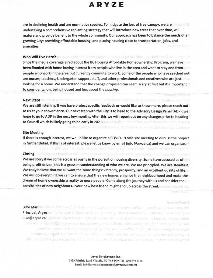 Aryze neighbour letter Aug 20 - 2020 p2.