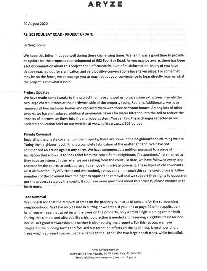 Aryze neighbour letter Aug 20  p1- 2020.