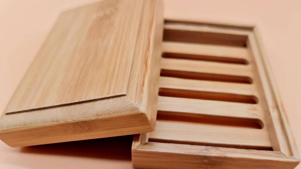 Boite à savon en bois rectangulaire