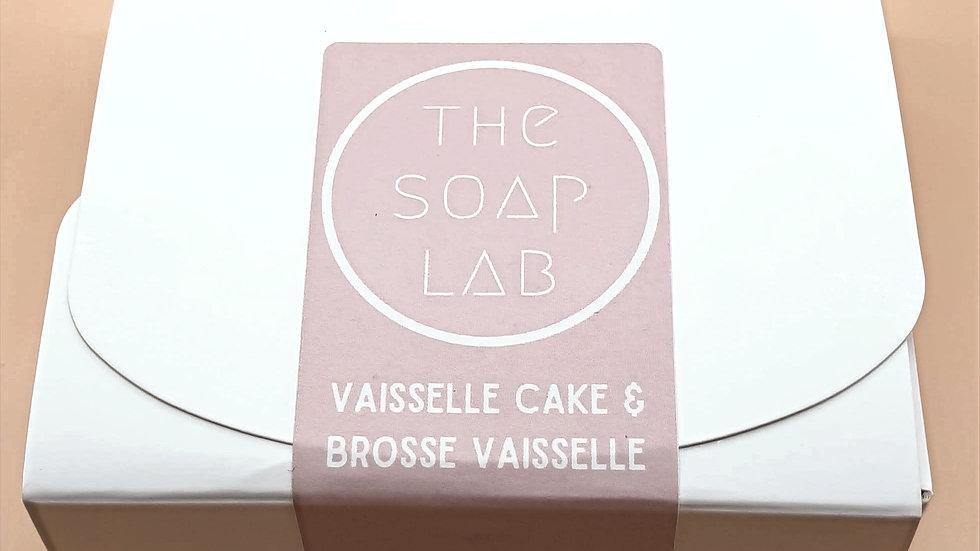Coffret vaisselle cake & brosse ou éponge