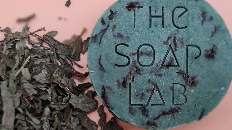 Savon Menthe & feuilles de menthe, à l'argile verte et chlorophylle