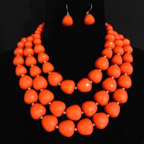 Beaded Bobbles in Orange