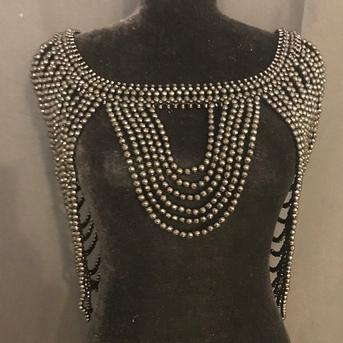 The Beaded Shroud in Black