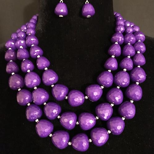 Beaded Bobbles in Purple