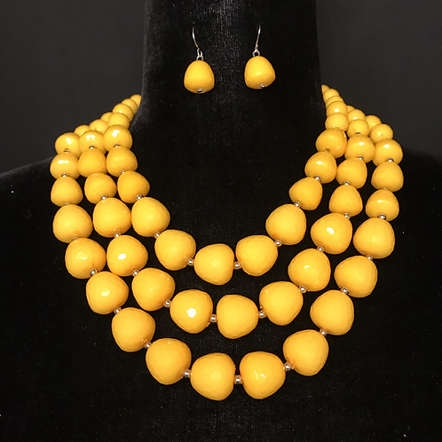 Beaded Bobbles in Yellow