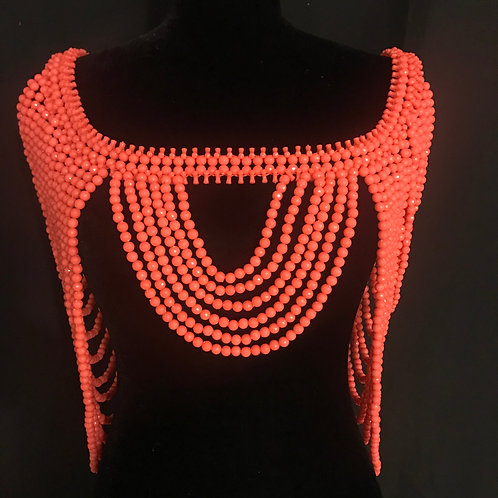 The Beaded Shroud in Coral