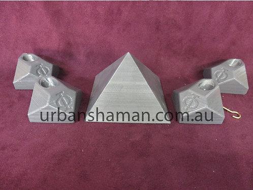 Giza Pyramid Connectors for Aluminium and PVC Pipe