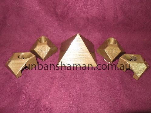 Copper Giza Pyramid Connectors