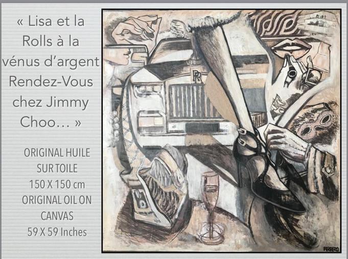 """""""Lisa et la Rolls à la vénus d'argent Rendez-vous chez Jimmy CHOO à Cannes..."""""""