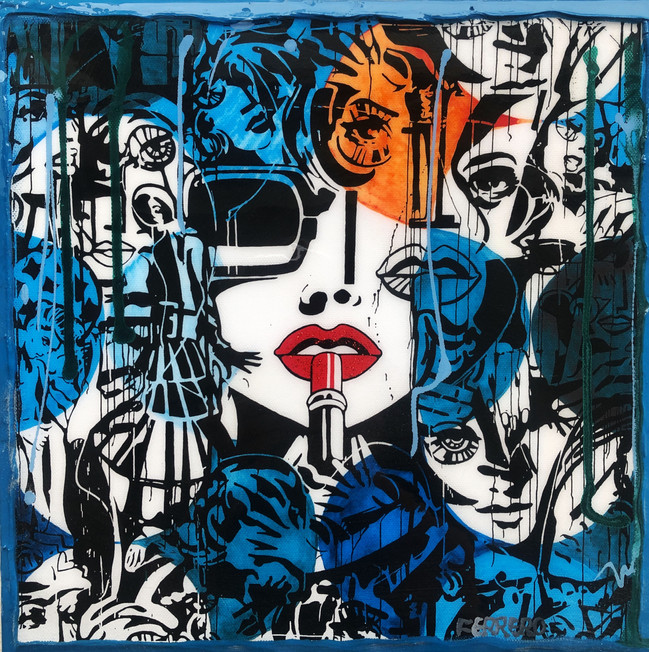 Lipstick variation abstract geometric