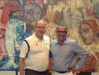 SAS PRINCE ALBERT II of MONACO visit Marc FERRERO Studio