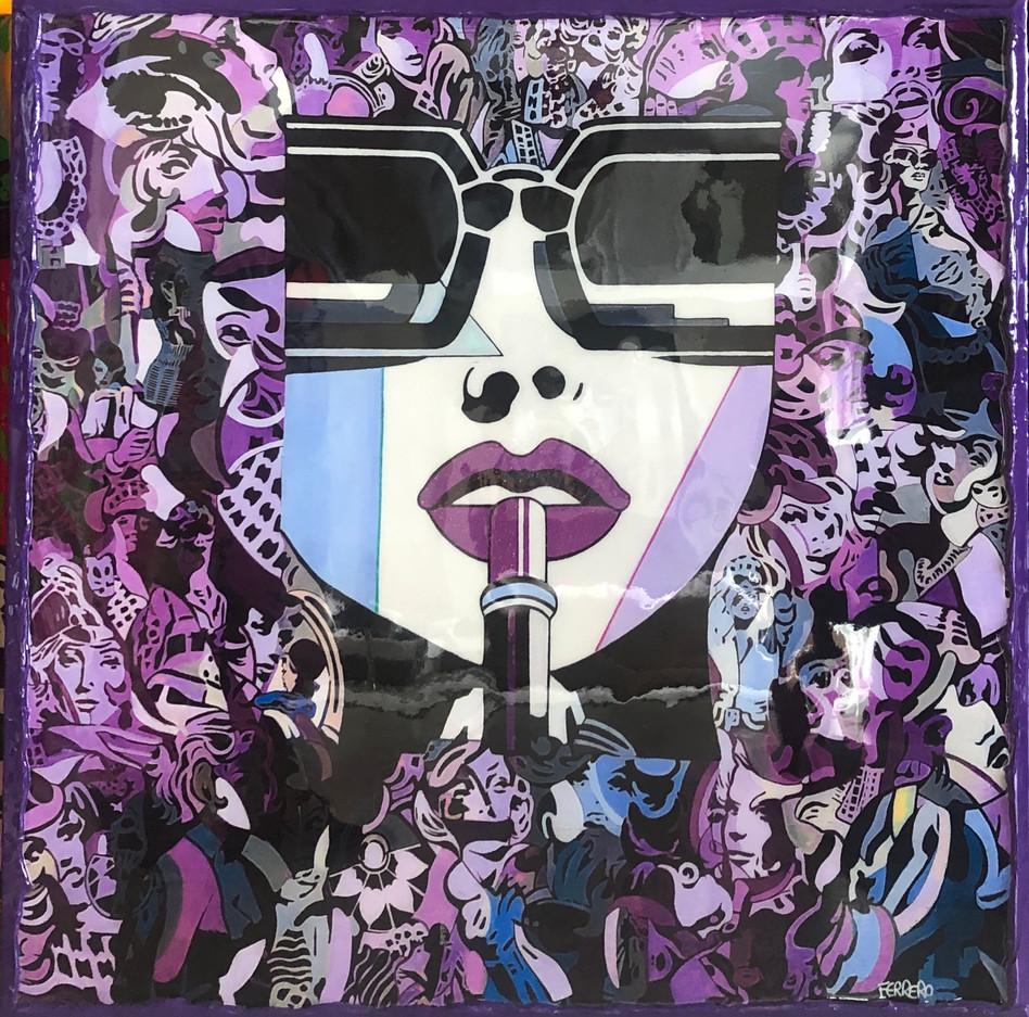 Lipstick classic violet