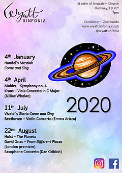 2020 programme concert poster