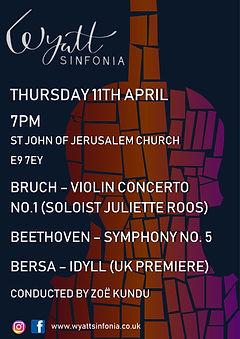 Beethove 5 concert poster