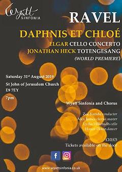 Daphnis et Chloe concert poster