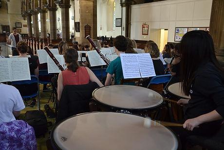 Timpani shot of orchestra