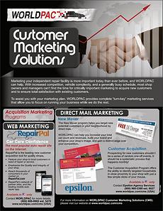 Customer Marketing Solutions Flier