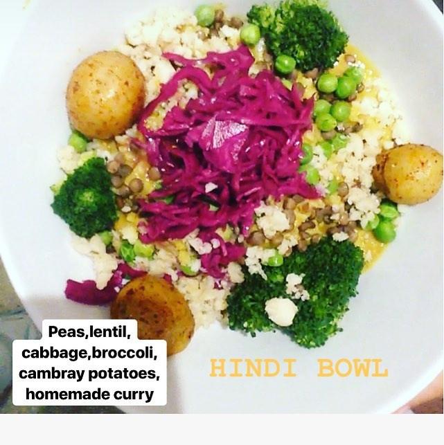 Hindi bowl from La Senda vegan playa del carmen