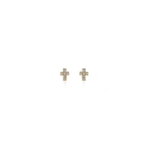 01-DIAMOND CROSS EARRINGS