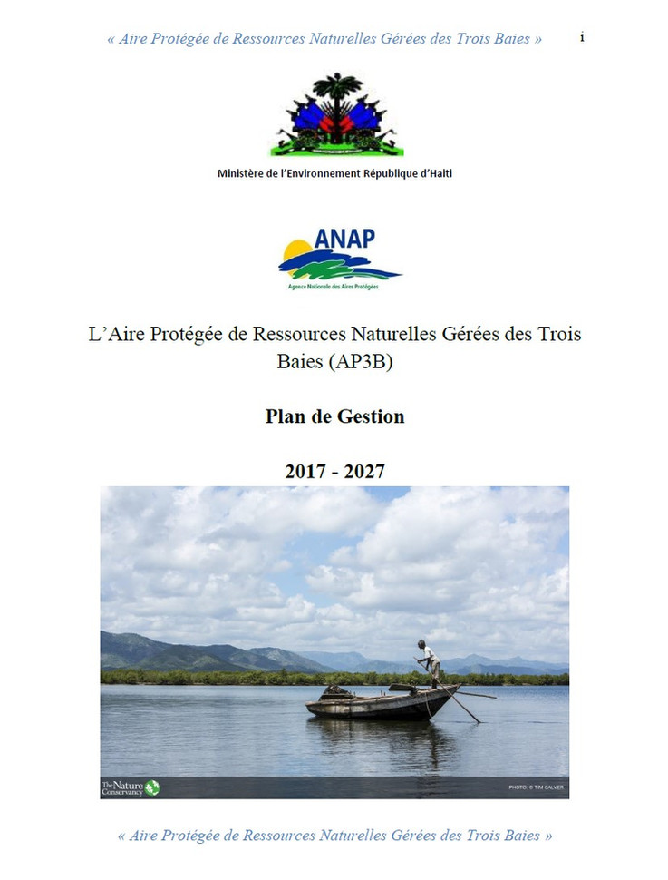 Development of the 3Bays Marine Protected Area management plan.
