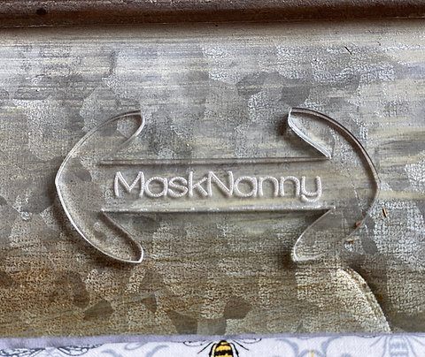 Mask Nanny - medical mask extender clip - acrylic and reusable mask fatigue