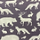 Thumbnail: Forest animals on grey reusable cloth mask, face covering, school mask
