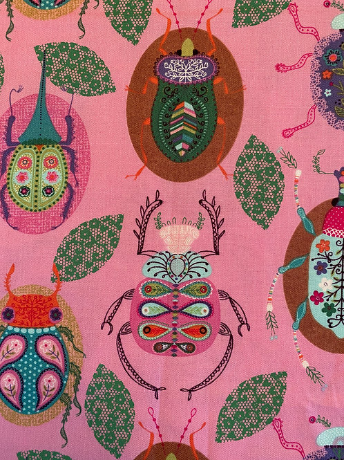 Bugs on Pink mask, face covering, lightweight mask, teen mask