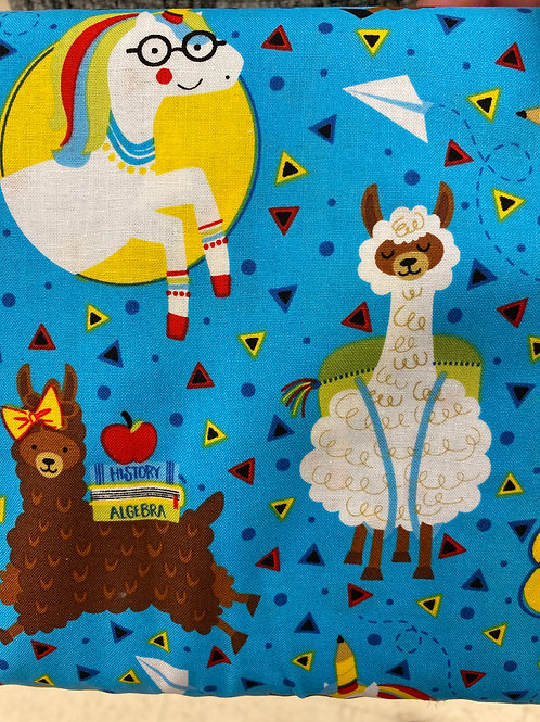 School Llamas reusable cloth mask, face covering, school masks