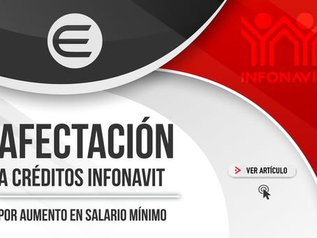 Afectación a créditos INFONAVIT por aumento en Salario Mínimo (SM)