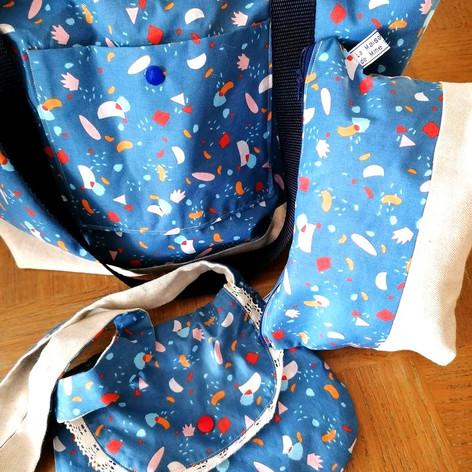 "Ensemble de sacs ""bleu"""