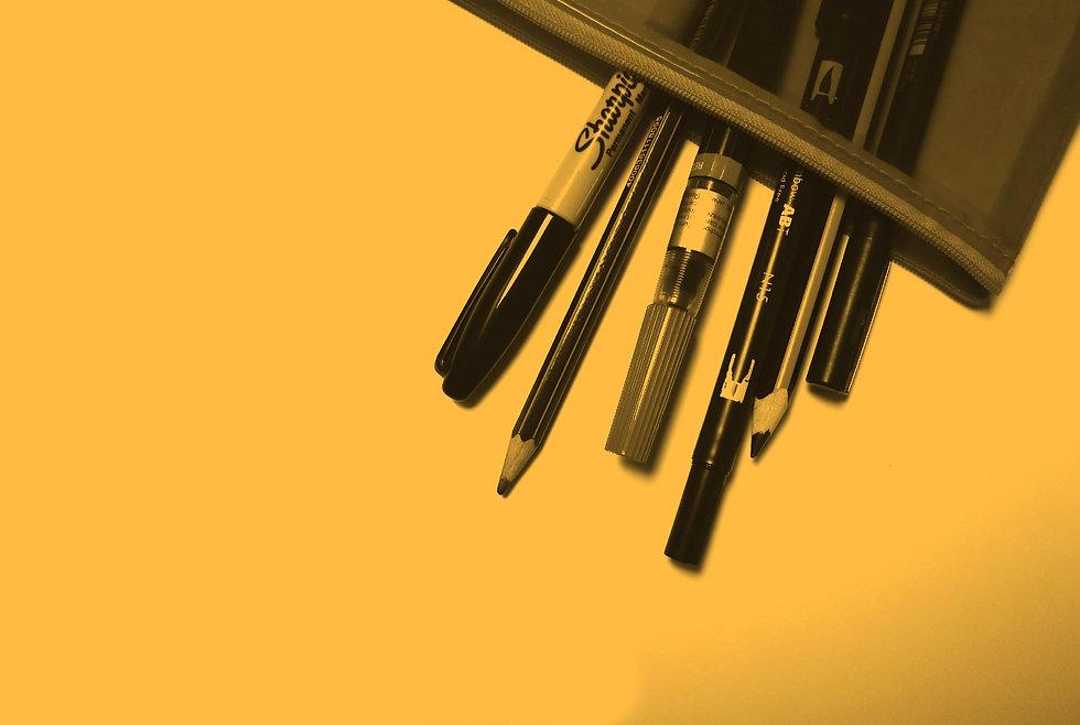 trousse de crayons de graphiste
