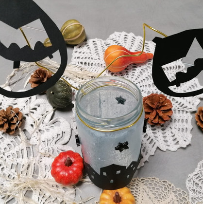"""Atelier enfant """"Photophore d'Halloween"""""""