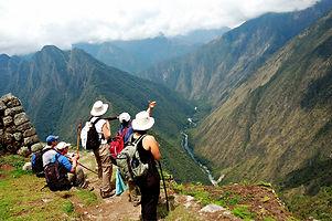 Ancient Inca ruins along the Inca Trail