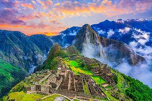 Machu Picchu, Cusco,Peru: Overview of th