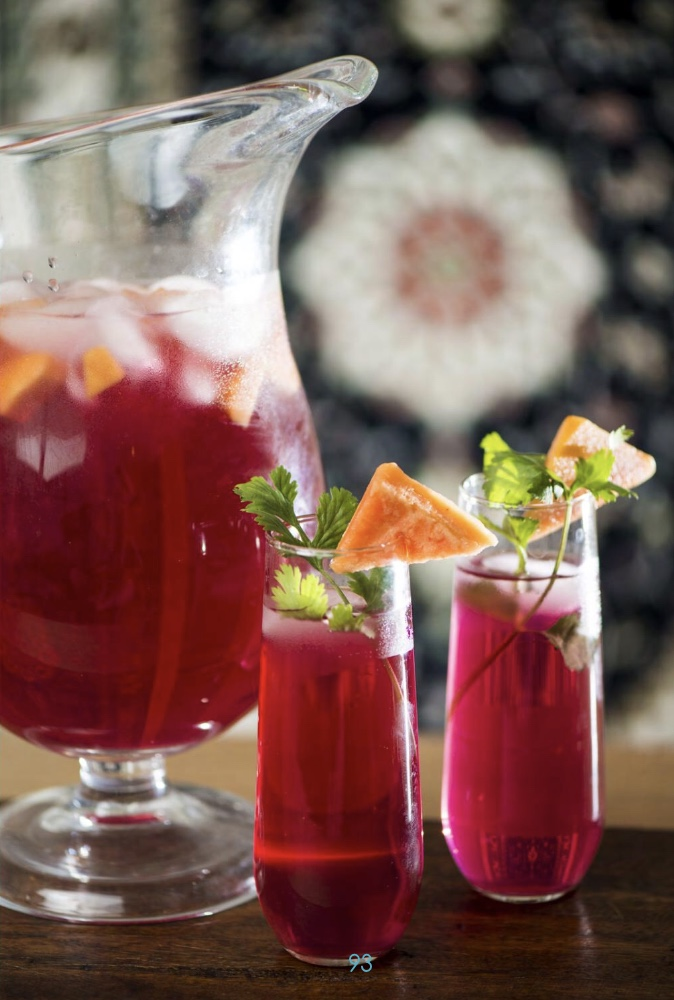 Watermelon-Pomegranate-Mango Sangria